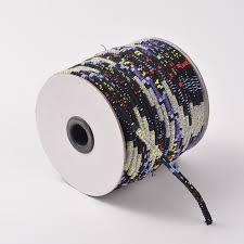 <b>Шнур</b> текстильный с <b>сердечником</b>, сшитый, <b>6мм</b>, Этника, черно ...