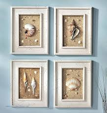 wall hangings for bathroom lovely trio of coastal wall decor cottage chic framed starfish wall art