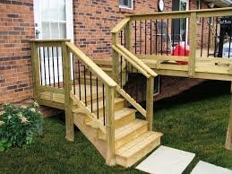 deck stair railing euages in wood within exterior railings designs 10