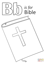Bible Coloring Page With Letter B Is For Bible Coloring Page Free