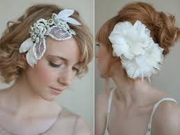 bridal hair accessories with feathers, pearls and rhinestones Wedding Hair Pieces With Feathers romantic bridal hair accessories with feathers, pearls and rhinestones Flower and Feather Hair Pieces