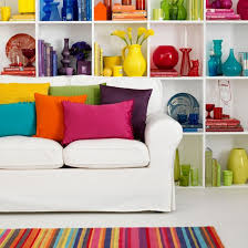 Rainbowbright Living Room  Rainbows Bright And Living RoomsBright Color Home Decor