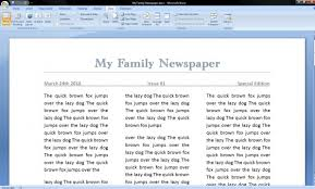 How To Make A Newspaper Template On Microsoft Word How To Make A Newspaper On Microsoft Word