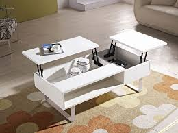 white lift top coffee table clad stelar lift top rectangular by