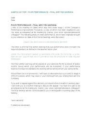 Termination Letter To Employee For Poor Performance Simple Resume