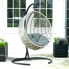 outdoor hanging egg chair wicker cushion swinging nz