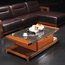 High Fashion Living Room Coffee Table Marble Coffee Table Wood High End  Luxury Furniture