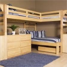 Corner loft bunk beds