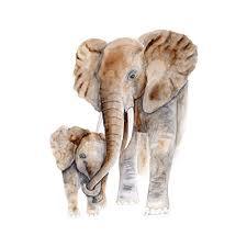 mom and baby elephant watercolor art nursery wall art various sizes available safari nursery decor on baby elephant wall art for nursery with amazon mom and baby elephant watercolor art nursery wall art