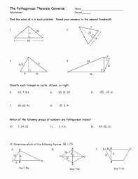 Excel. Pythagorean Theorem Worksheets: Grade Math Pythagorean ...