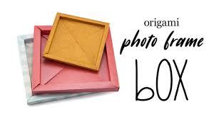 origami photo frame box tutorial origami paper storage paper kawaii home made art