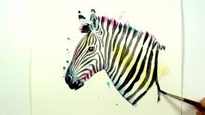 paint a colourful zebra a beginner watercolour sd painting