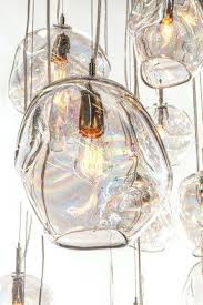 glass blown pendant lighting. Hand Blown Pendant Lights Glass Kitchen Intended For Stylish House . Lighting L