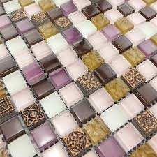 home improvement purple crystal glass mosaic wall tiles for bathroom shower floor and wall tile kitchen bar and backsplash tile in on
