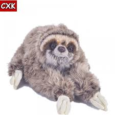 Cuddly Animal Three Toed Sloth Plush Toys Cute Soft Kids Dolls ...