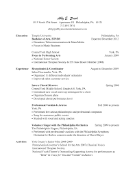 Cover Letter Receptionist Resume Format Hospital Receptionist