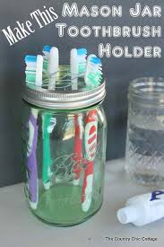 cool and fun projects to do at home. diy bathroom decor ideas for teens - mason jar toothbrush holder best creative, cool and fun projects to do at home