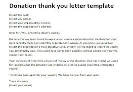 Donation thank you letter template | Appreciation letter samples