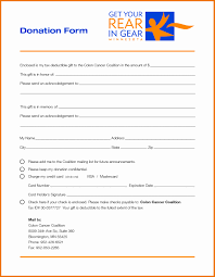 Sample Donation Form Sample Donation Form Latter Example Template