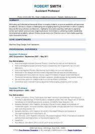 Modern Resume For Instructors Assistant Professor Resume Samples Qwikresume