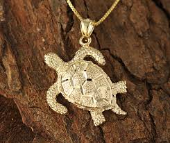 yellow gold turtle pendant l makani hawaii hawaiian heirloom jewelry wholer and manufacturer