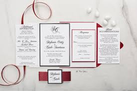 Red And White Wedding Invitations Valentines Day Wedding