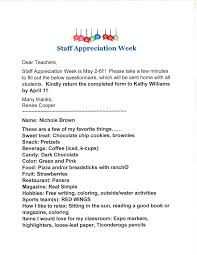Staff Appreciation Week Information