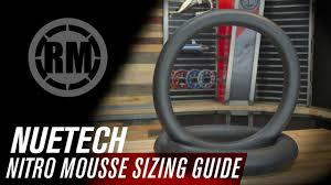Nuetech Nitro Mousse Foam Motorcycle Tube Sizing Guide