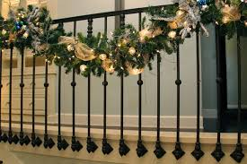 My Christmas Stair Garland transitional-staircase