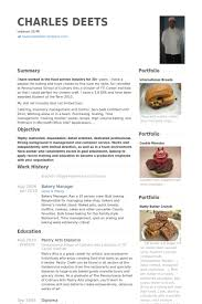 Bakery Manager Resume samples