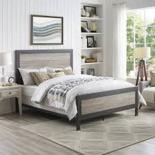 industrial metal bed frame. Fine Metal Walker Edison Furniture Company Queen Size Grey Wash Industrial Wood And Metal  Bed Intended Frame O