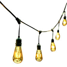 Italian String Lights Home Depot OVE Decors 24 Ft 24 Oversized Edison Light Bulbs BlackGold All 4