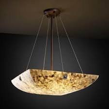 justice design group alabster rocks 48 inch bowl pendant with large square point finials