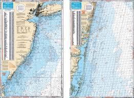 Waterproof Coastal Ne Fishing Chart New Jersey Coastal