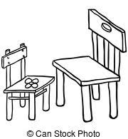 chair clipart black and white. pin chair clipart big and small #8 black white