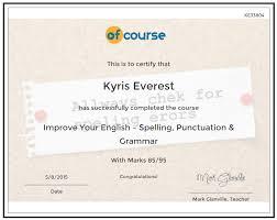 English Improve Your English Spelling Punctuation Grammar