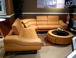 orange modern sectional sofa b68