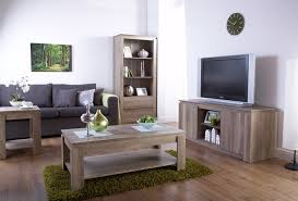 canyon dark oak living room furniture coffee table tv unit bookcase sideboard