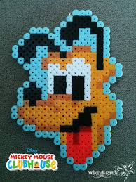 Perler Beads Mickey Mouse Designs From Mickey Mouse Club House Pluto Perler Bead Creation