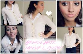 grease inspired hair makeup and outfit