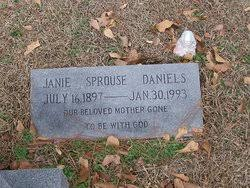 Sarah Janie Sprouse Daniels (1897-1993) - Find A Grave Memorial