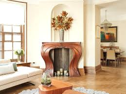 corner fireplace wood trim chic mantels living room transitional mantel decorating ideas furniture arrangement around insert
