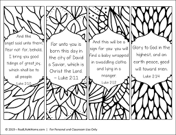 Bible verse coloring page psalm 107:1. Free Printable Religious Christmas Bookmarks To Color For Kids And Adults