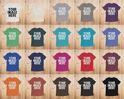 T Shirt Mockups Unisex Bella Canvas 3413 Flatlay Mockup