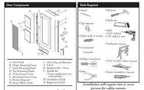 pella sliding screen door parts diagram designs