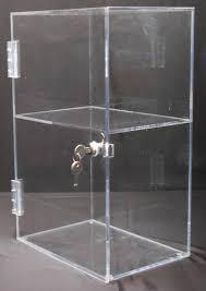 acrylic locking display case