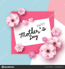 Design Paper Background Flower Mothers Day Card Design Of Pink Flowers On Color Paper