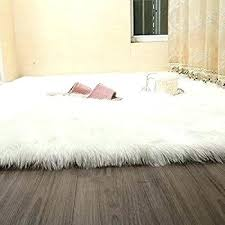 round faux fur rug faux sheepskin rugs attractive delightful large fur 3 throw rug inside 0