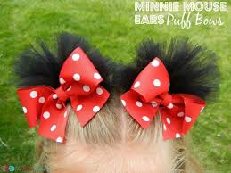 minnie mouse puff bows the ultimate list of minnie mouse craft ideas party