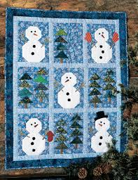 QM Cool Down: Winter quilts such as Snowmen in the Woods are ... & QM Cool Down: Winter Quilts - Snowmen in the woods Adamdwight.com